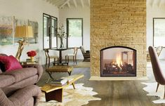 Image detail for -Heat & Glo Escape See-Through Gas Fireplace - Wood Heat Fireside Hearth And Home, Home Fireplace, Home, House Styles, House Design, Fireplace Design, Family Room, Fireplace Remodel, House Interior