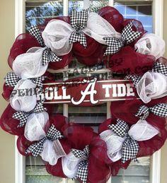 Alabama Crimson Tide Wreath on Etsy, $75.00