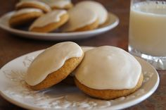 pumpkin cookies with brown butter frosting.