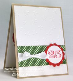 3c7972049 Friday Flip  Making a Simple Christmas Card by Stampin Meg - Cards and  Paper Crafts at Splitcoaststampers