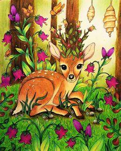 "84 Likes, 4 Comments - Lea Krňávková (@leacoloring) on Instagram: ""Čarovné lahodnosti (Magical Delights) by Klára Marková. Love this book ❤ Backround (trees) -…"""