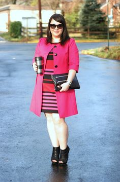 one-step colorblocking with a dress