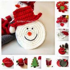 Crochet y dos agujas: Ideas de adornos de Navidad