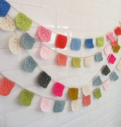 crochet garland @Marianna {It's Party Time!} {It's Party Time!} Said Pasley !!!!
