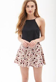 Antique Floral Skater Skirt #SummerForever
