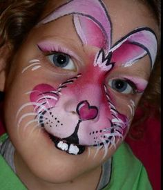 Mel Broom Face Painting Tutorials, Face Painting Designs, Body Painting, Bunny Face Paint, Easter Face Paint, Animal Face Paintings, Animal Faces, Face Paint Makeup, Artistic Make Up