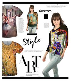 """""""Yizzam.com: Art Inspired"""" by hamaly ❤ liked on Polyvore featuring Anja, Sandro, vintage, outfit, ootd, blouse and yizzam"""