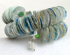 Frozen Lake Bracelet by #PurpleDotBoutique on Etsy #paperbeads #teampinterest #jewelry