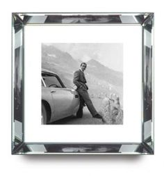 James Bond mirror framed print. A perfect gift for Father's Day > http://www.gamesroomcompany.com/Product_Catalogue/Artwork/Mirror_Frame_Pictures/James_Bond_-_Goldfinger_DB5_6966 #FathersDay #Gift #JamesBond