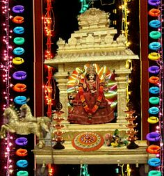 Navaratri durga stage decoration