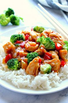 Teriyaki Chicken Stir Fry Recipe – colorful vegetables, juicy chicken and sweet homemade teriyaki sauce simmered together stir-fry style. Fast dinner for busy days! recipes for two recipes fry recipes Teriyaki Chicken, Sauce Teriyaki, Teriyaki Stir Fry, Homemade Teriyaki Sauce, Chicken Teryaki Stir Fry, Fried Vegetables, Chicken And Vegetables, Colorful Vegetables, Chicken Vegetable Stir Fry