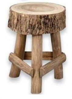 nice stool with piece of tree trunk (loan baker) - Diy Möbel Rustic Log Furniture, Twig Furniture, Handmade Furniture, Furniture Projects, Furniture Nyc, Furniture Dolly, Woodworking Projects Diy, Wooden Crafts, Diy Wood Projects