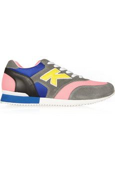 """The """"K"""" is for Karl, duh! Colorful suede and mesh. Karl Lagerfeld sneakers.  $360  NET-A-PORTER"""