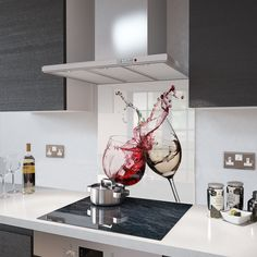 Red and White Wine Toughened Glass Splashback Resistant to 500°C | Home, Furniture & DIY, Cookware, Dining & Bar, Other Cookware, Dining & Bar | eBay!