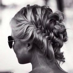 Try a braided back bun for a classic date night hairstyle.