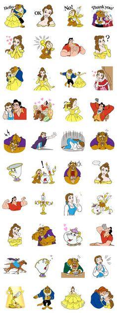 Viaja de la mano de Bella a un mundo de magia con los stickers de La Bella y la Bestia. Gastón y los sirvientes del castillo te están esperando.