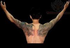 devil-and-angel-wings-tattoo-on-back-shoulders.jpg 400×274 pixels
