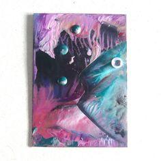 ACEO Original Unique Abstract Encaustic Art Painting by KeleverArt, £3.50