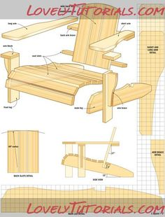 Fondant Adirondack Chair Template