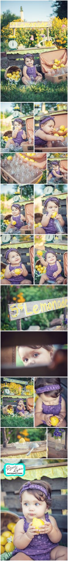 Summer is here!! lemonade stand, silver lights photography studio