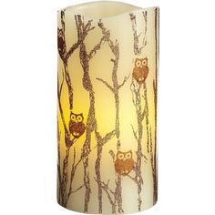 Pier 1 Imports Owl LED Candle ($7.38) ❤ liked on Polyvore featuring home, home decor, candles & candleholders, candles, fillers, lamps, bedroom, decor, fall candles and pier 1 imports
