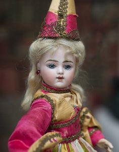 13in (33 cm) Very beautiful Antique French All Original Fortune Teller Bru bebe doll from Gerard era, marked Bru Jne R 4, c.1890.