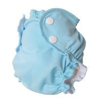 AppleCheeks washable swim diapers.  2 sizes.  Love how thin these are!  They fit great under a swimsuit or go solo!