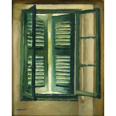 "Albert Marquet, ""Persienne verte"", 1944-1946, Collection particulière © photo Jean-Louis Losi © ADAGP, Paris 2016"