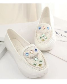 2016 Summer style vintage women flats fashion rhinestone round toe flat shoes woman 4 colors