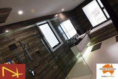Dark walls, light floors just makes the bathroom look larger than life .. love it #timbertiles #bathroomtiles #bathroomdesign #bathroomdecor #bathroominspo #bathroom #bathroomreno #modernbathroom #luxurybathroom #instabathroom #interiordesign #design #decor #new #love #modern #fresh #contemporary #reno #renoinspo #tileaddiction #wallhungvanity #builtinbath #glassshower #goldcoast #brisbane #tweed #architect