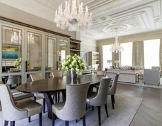 dining room interior design in contemporary style Luxury Dining Room, Dining Rooms, Dining Area, Dinner Room, Internal Design, Luxury Interior Design, Classic Interior, Luxury Kitchens, Kitchen Layout