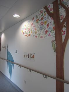 Decorated corridors in the 'new' Royal London Hospital Children's hospital March  2012 by Carol B London, via Flickr