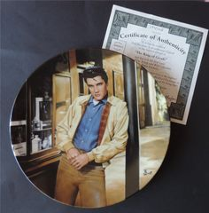 """ELVIS PRESLEY Collector Plate #1  """"The King of Creole""""  Young and Wild Series."""