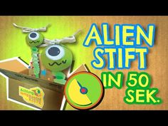 Alien Stift in 50 Sekunden basteln - Achtung, fertig,Bastelkiste 3 - YouTube