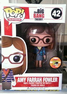RARE FUNKO POP - 2013 SDCC EXCLUSIVE - BIG BANG THEORY - AMY FARRAH FOWLER #FUNKO