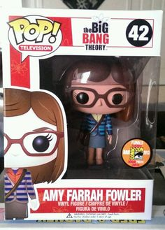 RARE FUNKO POP - 2013 SDCC EXCLUSIVE - BIG BANG THEORY - AMY FARRAH FOWLER #FUNKO