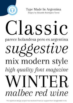 Image for Arapey font