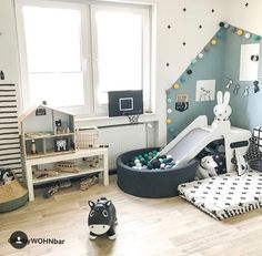 baby zimmer Ball Pool Slide / Mattress - # to # from # to . Baby Bedroom, Baby Boy Rooms, Baby Room Decor, Girls Bedroom, Bedroom Decor, Room Baby, Toddler Rooms, Kids Room Design, New Room