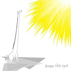 ☀Bonne fête Cyril et Cyrille 🌞 #ptak #ptakptak #ptakblog #ptakdesign #flowmagazine_fr #flowpetitsplaisirs #soleil #sun #summer #sommer #ete #bonnefete #girafe #giraffe #illustration #illustrator #illustratrice #sketch #drawing #nature #naturelover #wildlifedrawing #wildlife #animal #animaldrawing #picame #illustrationfriday #illustrationartists #sbgblogger