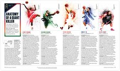 ESPN Magazine Giant Killers - NOPATTERN / Chuck Anderson: Art, design, & creative direction