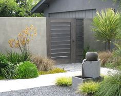 Harmonised drought tolerant landscaping and neutral tones.