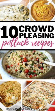 10 Crowd Pleasing Potluck Dishes - Easy Recipes to Feed a Crowd These potluck recipes will make it easy. We found 10 Crowd-Pleasing Potluck Dishes - Easy Recipes to Feed a Crowd. Be sure to save these for later! Crockpot Potluck, Best Potluck Dishes, Easy Potluck Recipes, Healthy Potluck, Potluck Dinner, Dinner Dishes, Delicious Recipes, Potluck Meals, Church Potluck