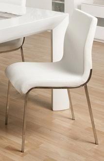 Pamela PVC Dining Chair in White
