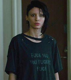 I loved the English version of The Girl with the Dragon Tattoo just as much as the Swedish version.. & I actually liked Rooney Mara better as Lisbeth.. also I need this shirt. I laughed so hard when I first seen it.
