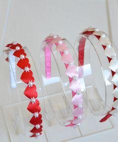 Girl headbandhearts headbandheadbandcouture от MagaroCreations