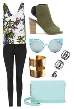 """""""Sans titre #1236"""" by meryem-mess ❤ liked on Polyvore featuring Topshop, Fendi, LULUS, ADIN & ROYALE, Sole Society and Kate Spade"""