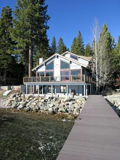 Tahoe Lakefront Vacation Rental - Waters Edge    This fantastic Tahoe lakefront home is located central to the North Lake area in Agate Bay. Perched right on the water's edge gives you spectacle views of Tahoe and the surrounding mountains.  Size 4 bedrooms, 4 bathrooms & a game room -sleeps 10 - from $500 a night  Pier and Buoy - Wireless Internet Access - Please call 800-215-8904