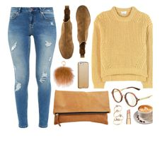 """Morning"" by smartbuyglasses ❤ liked on Polyvore featuring Ted Baker, Acne Studios, Gucci, Bottega Veneta, MICHAEL Michael Kors, Case-Mate, Fall, casual, yellow and brown"