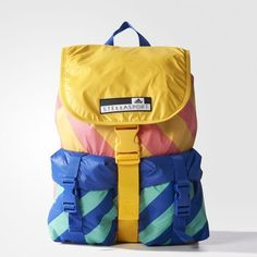 Haul your training gear in this women's adidas STELLASPORT backpack featuring an interior laptop compartment and front buckle pockets to keep necessities in reach. A sweat-wicking back panel keeps you cool and dry. Mochila Adidas, Cute Backpacks For School, Cool Backpacks, Jansport Backpack, Backpack Bags, My Bags, Fashion Bags, Adidas Women, Color Blocking