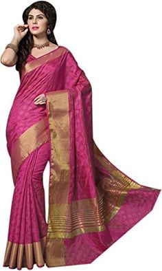 Taanshi Women's Tassar Silk Saree (Taanshi2630_pink)